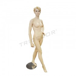 040608 manequim muller de carne, cabelo esculpido. Tridecor