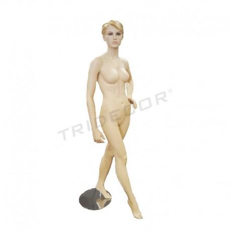 040608 manequim feminino carne, cabelo esculpido. Tridecor