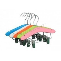HANGER CHILD WITH BAR AND CLAMPS,5UND, ASSORTMENT 5 COLORS
