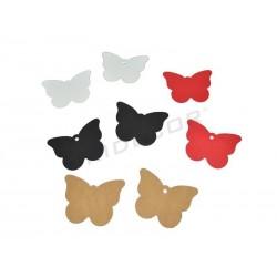 Etiquetas colgantes forma mariposa varios colores, tridecor
