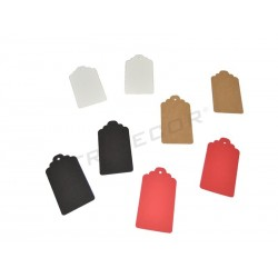 Etiquetas colgantes para ropa. Varios colores, pequeñas, tridecor