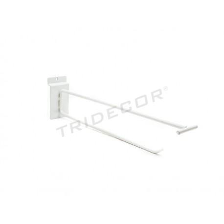 HOOK PORTAPRECIO FOR LAMA-WHITE COLOR 30 CM