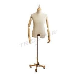 6040903 Busto de hombre brazos claros y pie metálic