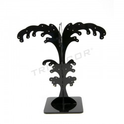 EXHIBITOR BLACK ACRYLIC FOR EARRINGS, PALM TREE