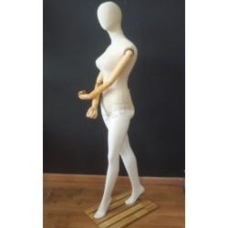 6041257 Maniquí mujer tela y brazos articulados, tridecor