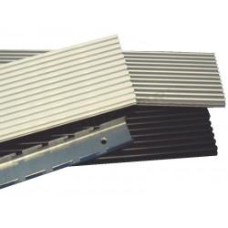 Panel blade aluminum slotted narrow. 16x300 cm Tridecor
