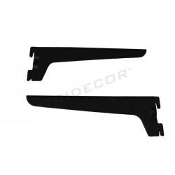002388 Support pour tablette en bois ou en verre-noir 25 cm Tridecor