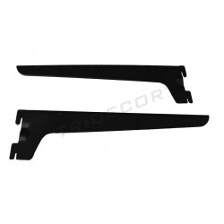 SUPPORT FOR WOODEN SHELF, RACK. BLACK 30 CM