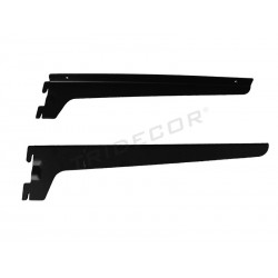 SUPPORT FOR WOODEN SHELF, RACK. BLACK. 35 CM