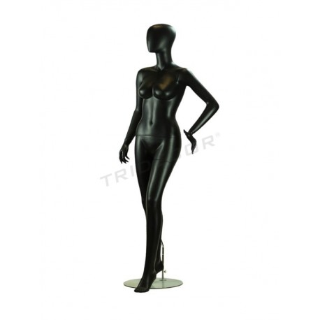 MANNEQUIN WOMAN BLACK MATTE WITHOUT FACTIONS