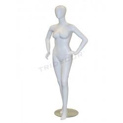014014 Maniquí-les dones de blanc mat sense faccions. Tridecor