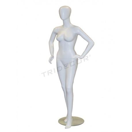 014014模特-妇女的白雾没有派别。 Tridecor