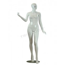 Mannequin female white glow blue tab