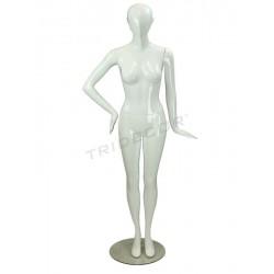 Maniqui mulher branco brilho, sem facções, tridecor