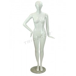 040826 Maniqui mujer blanco brillo sin facciones, tridecor