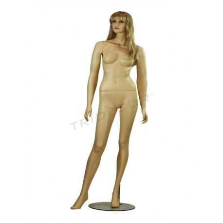 Mannequin female without hair, color of flesh