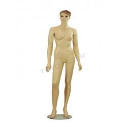 040792 Maniquí mujer color carne, pelo esculpido. Tridecor