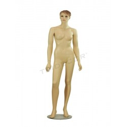 040792 Mannequin woman, color of flesh, hair sculpted. Tridecor