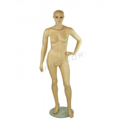 Mannequin woman-flesh-colored hairless