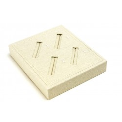 TRAY JEWELRY,LINEN BEIGE, SLOTTED 18.5X15.5X3 CM