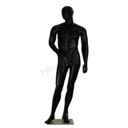 Mannequin homme noir mat sans factions