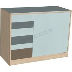 Vitrina Mostrador 150x50x90 cm varios colores Tridecor
