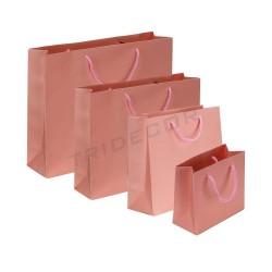 纸袋叠与处理亚麻粉红色的雾各种大小的12个单位