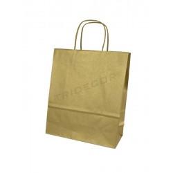 010592 Bolsa de papel con asa rizada color oro 22x10x29 cm 25 unidades