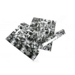 塑料袋中的照片模切处理25X35CM黑色和白色的100个单位