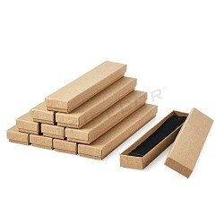 Caja joyería color natural 4.5x22.5x3 cm 12 unidades Tridecor