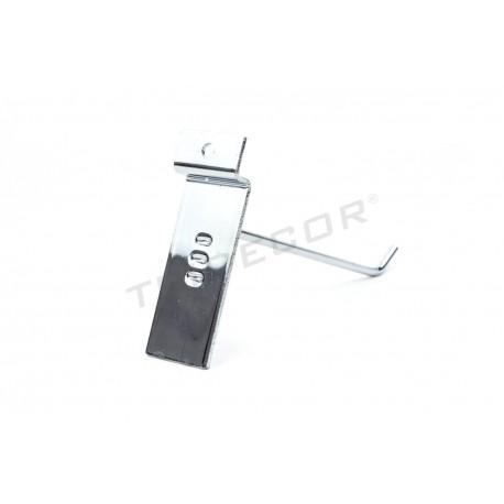 001003 Gancho colgador para panel de lamas 15 cm 4 mm. Tridecor