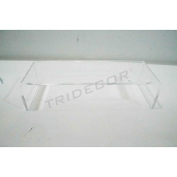 Aussteller acryl transparent form C. Maßnahmen: 20.5x7x5.5 cm