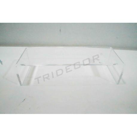 Expositor acrílico en C. 20.5x7x5.5, tridecor