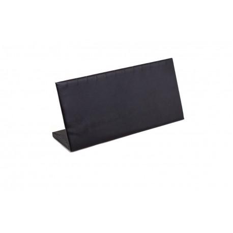 Expositor joyería para pulseras, horizontal. Polipiel negra, tridecor