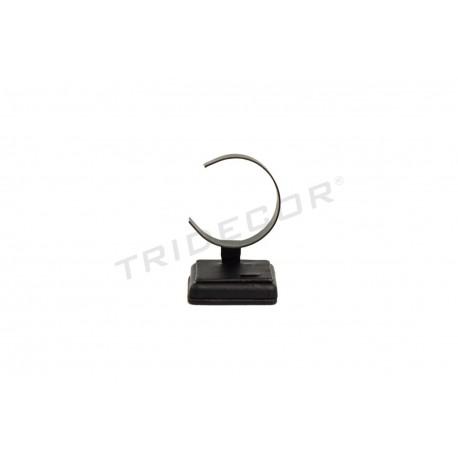 Expositor joyería para conjunto, polipiel negra, tridecor