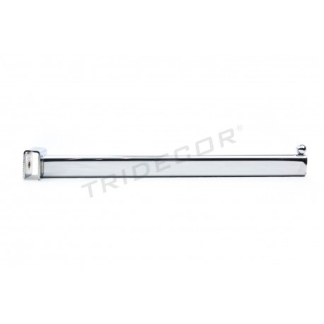 002198 Colgador para barra rectangular 1 bola 35 cm. Tridecor