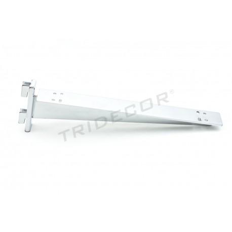 002296Soporte de estante doble para sistema de cremallera 30 cm. Tridecor