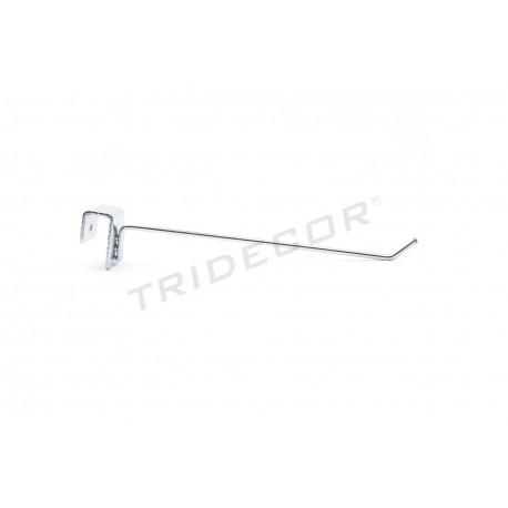 001044 Gancho colgador para barra rectangular 20 cm. Tridecor