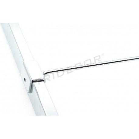 001045 Gancho colgador para tubo rectangular 30 cm 6 mm. Tridecor
