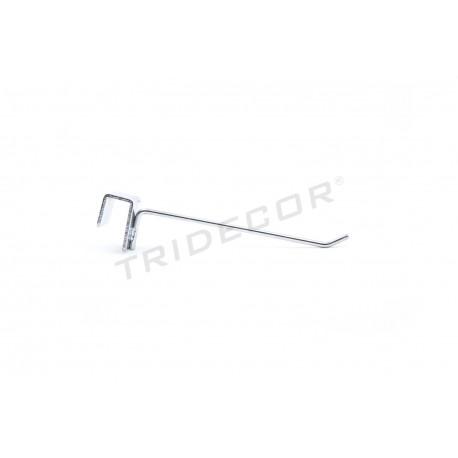 001043 Gancho colgador para barra rectangular 15 cm 6 mm. Tridecor