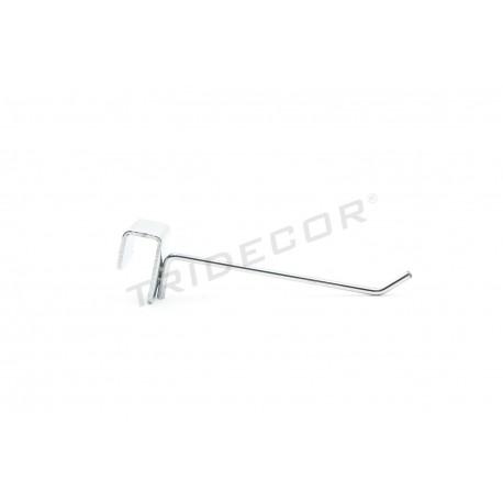 001042 Gancho colgador para barra rectangular 10 cm. Tridecor