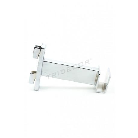 002149 Soporte barra perchero para cremallera 10 cm. Tridecor