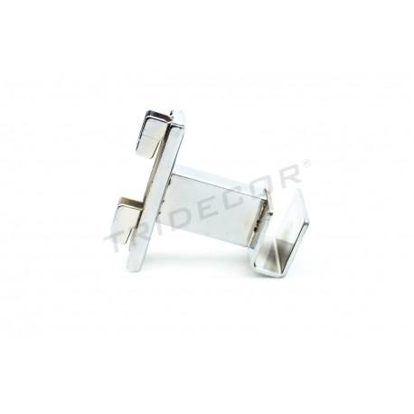 002148 Soporte barra perchero para sistema de cremallera 5 cm. Tridecor