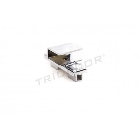 006060 Soporte de barra rectangular para sistema de cremallera. Tridecor