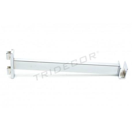 002153 Soporte barra perchero para cremallera 30 cm Tridecor