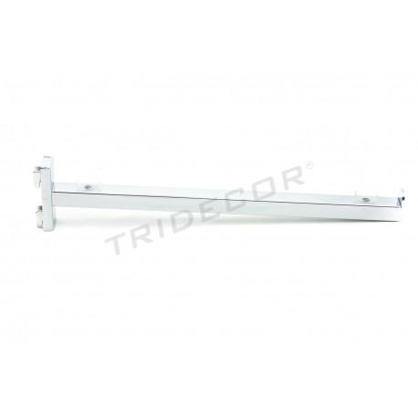 002101 Soporte de estante para sistema de cremallera 35.5 cm. Tridecor