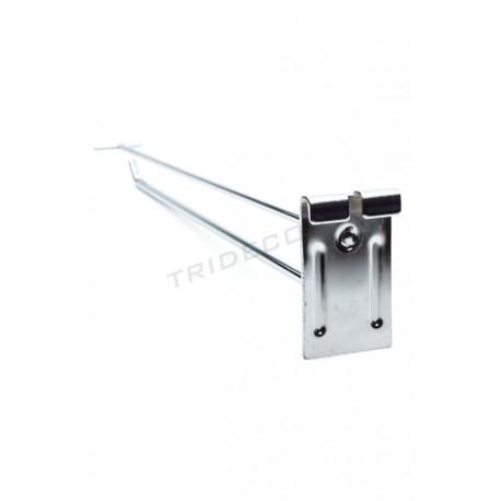 001176 Gancho portaprecio para malla 40 cm 10 mm. Tridecor