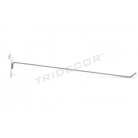 Gancho colgador para panel de lamas 40 cm 6 mm-. Tridecor