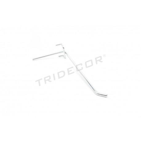 001022 Gancho colgador pie largo para malla 25 cm. Tridecor