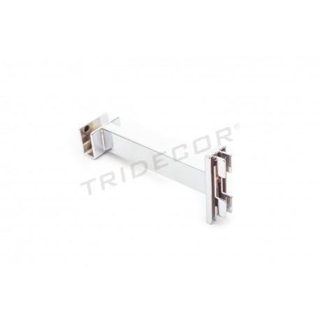 002150 Soporte barra perchero para cremallera 15 cm. Tridecor